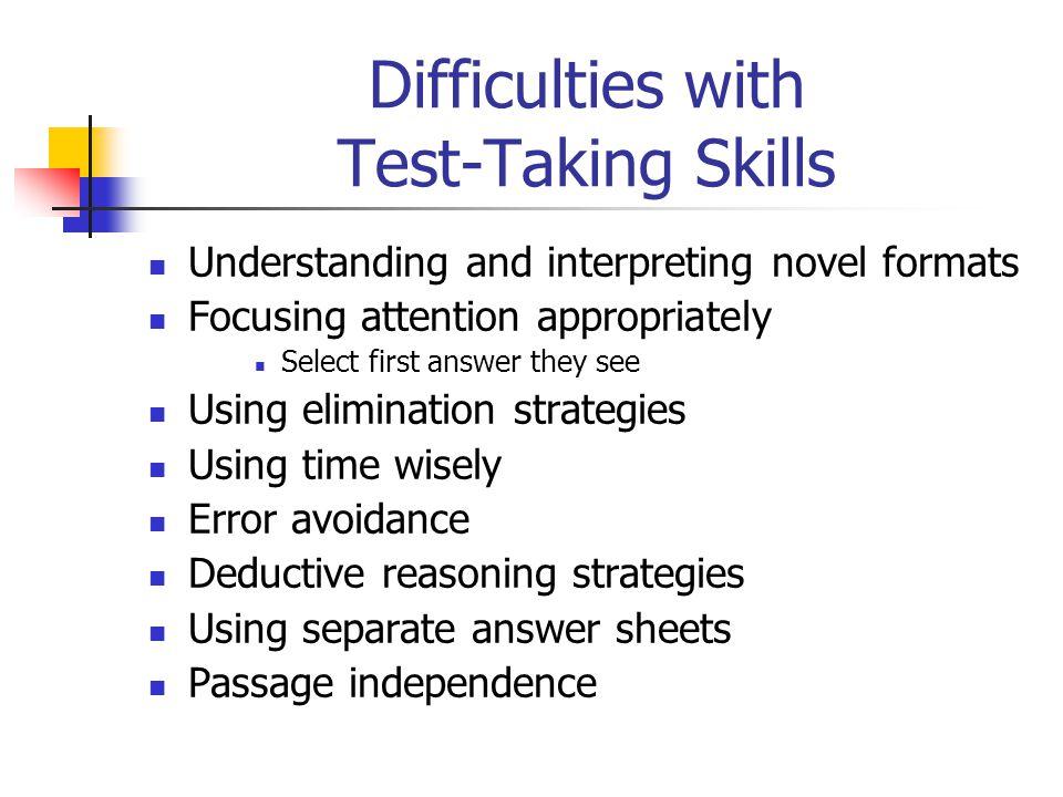 Test-Taking Skills: Passage Independence