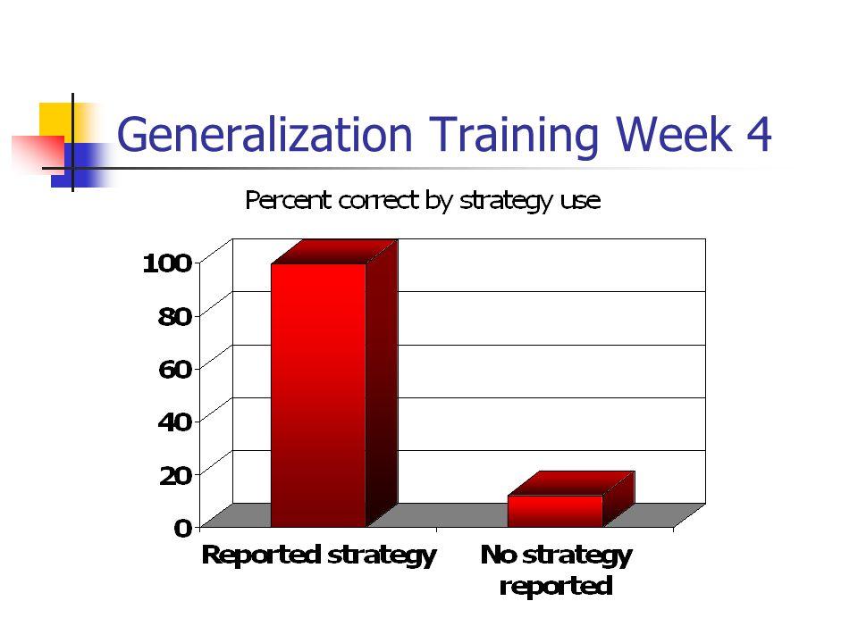 Generalization Training Week 4