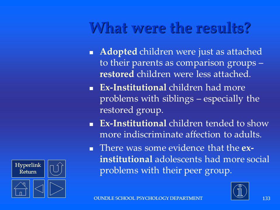 Hyperlink Return OUNDLE SCHOOL PSYCHOLOGY DEPARTMENT 132 What was the procedure.