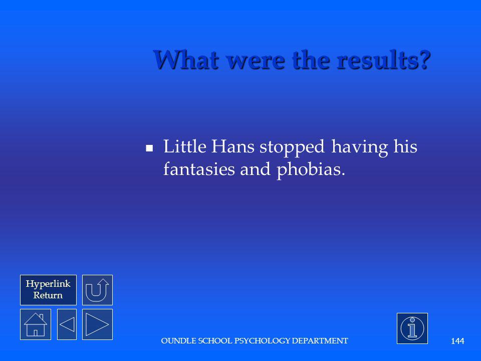 Hyperlink Return OUNDLE SCHOOL PSYCHOLOGY DEPARTMENT 143 What interpretations did Freud make.