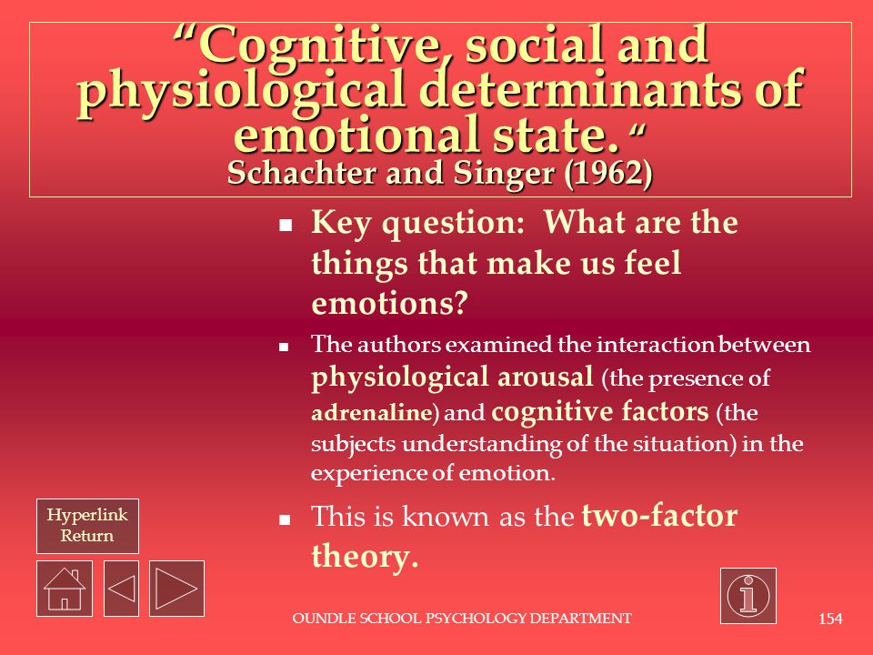 Hyperlink Return OUNDLE SCHOOL PSYCHOLOGY DEPARTMENT 153 What is physiological psychology? It looks at how the structure and function of our nervous s