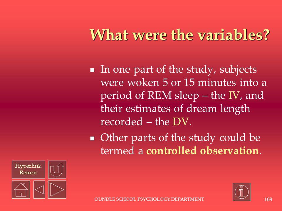 Hyperlink Return OUNDLE SCHOOL PSYCHOLOGY DEPARTMENT 168 What does an EEG look like?