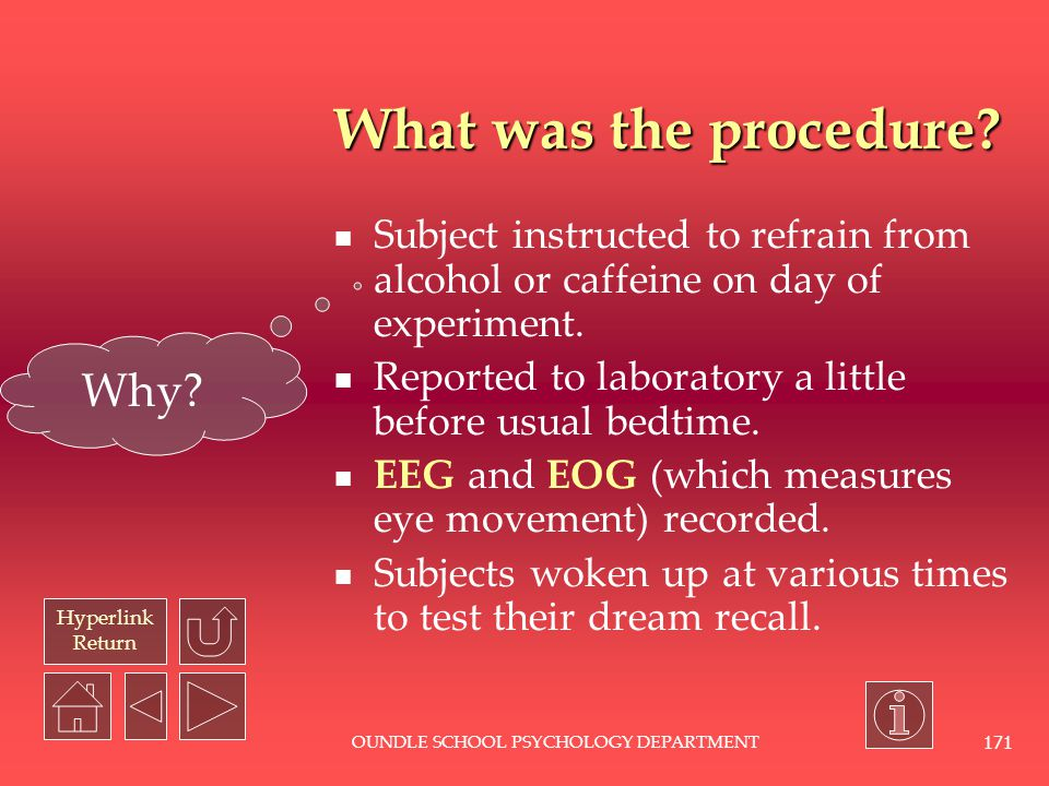 Hyperlink Return OUNDLE SCHOOL PSYCHOLOGY DEPARTMENT 170 What were the hypotheses.