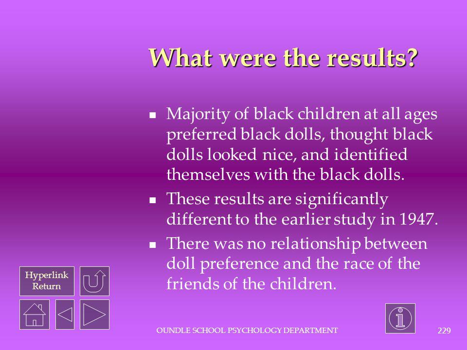 Hyperlink Return OUNDLE SCHOOL PSYCHOLOGY DEPARTMENT 228 What was the procedure.