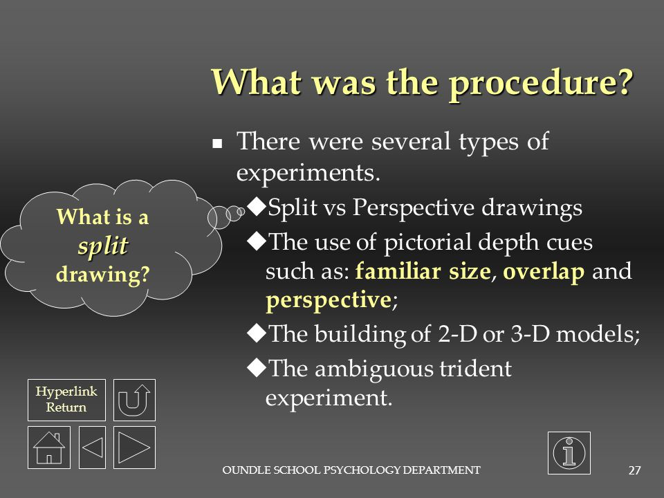 Hyperlink Return OUNDLE SCHOOL PSYCHOLOGY DEPARTMENT 26 What was the aim of this study.