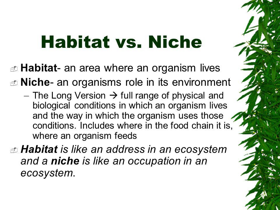 Habitat vs.