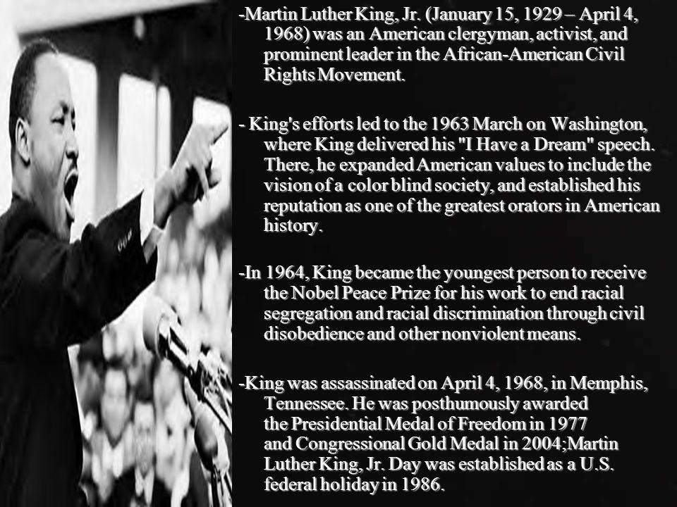 March on Washington, August 28, 1963 -John F.