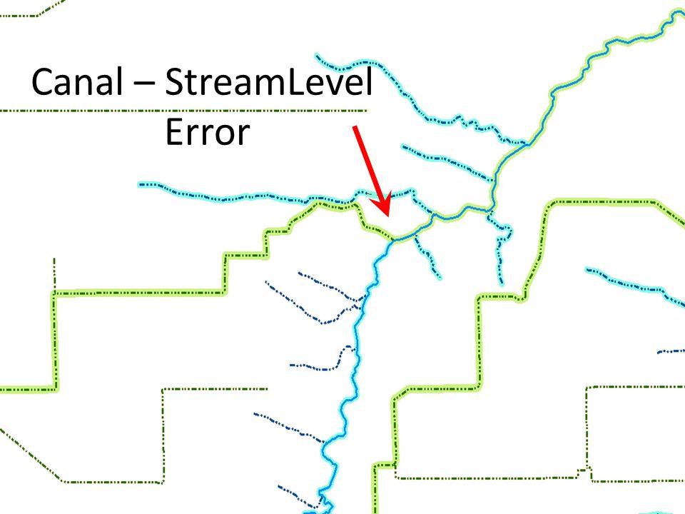Canal – StreamLevel Error