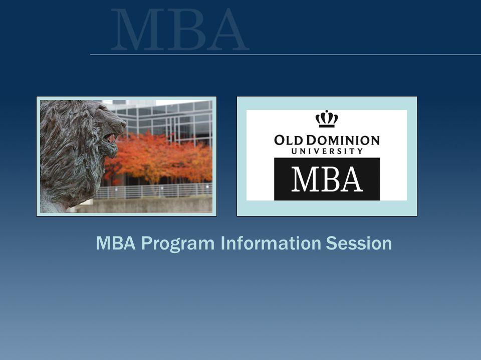 MBA Program Information Session