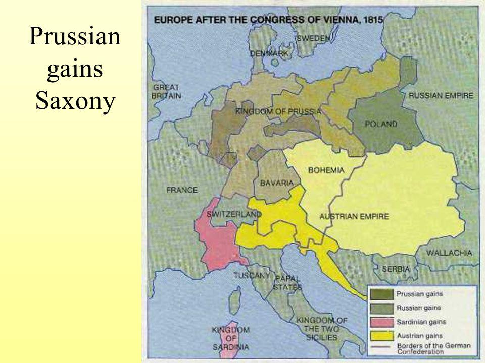 Prussian gains Saxony