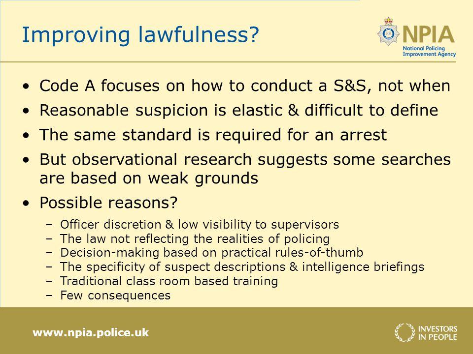 www.npia.police.uk Improving fairness.