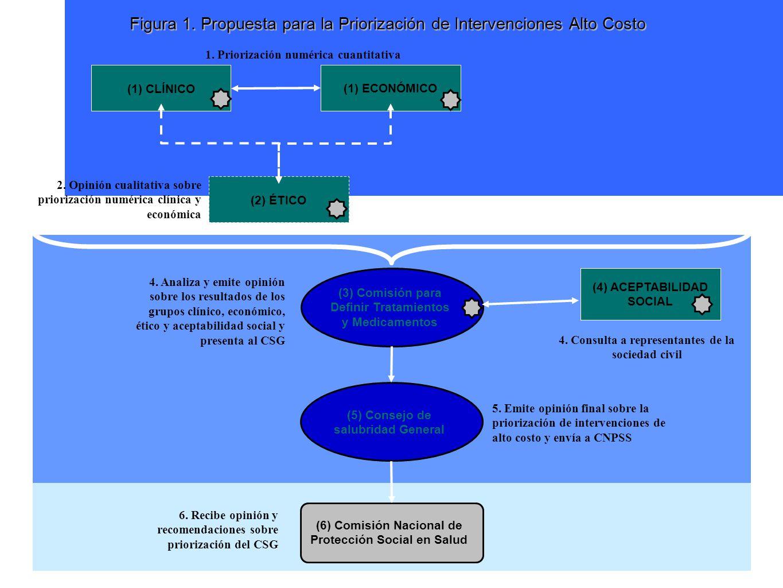 Figura 1.Propuesta para la Priorización de Intervenciones Alto Costo (1) CLÍNICO(2) ÉTICO 1.