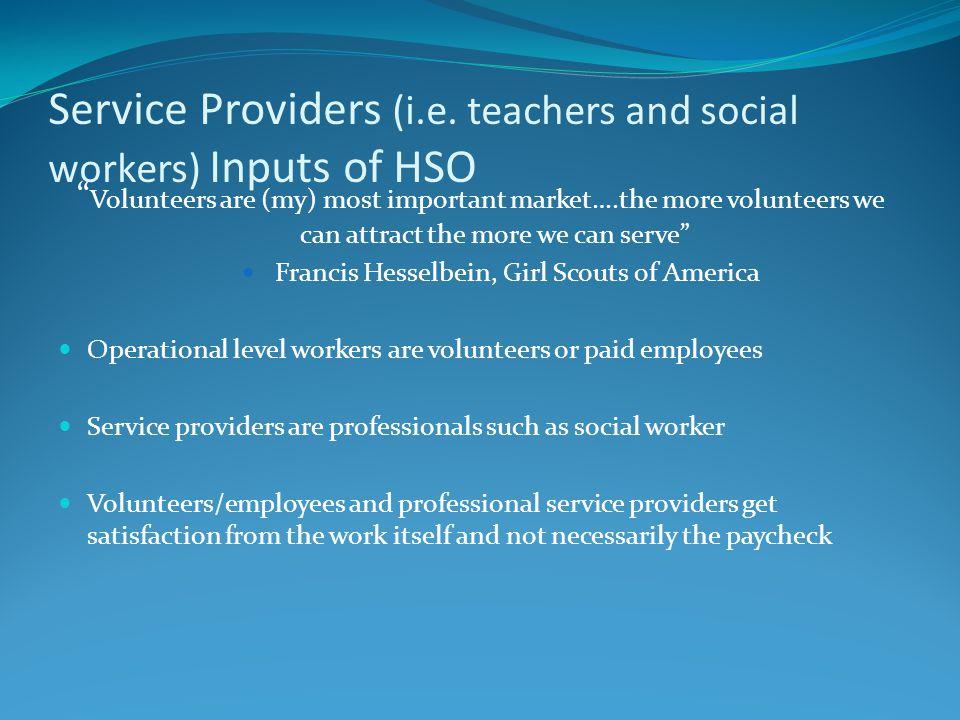 Service Providers (i.e.