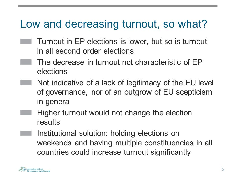 Low and decreasing turnout, so what.