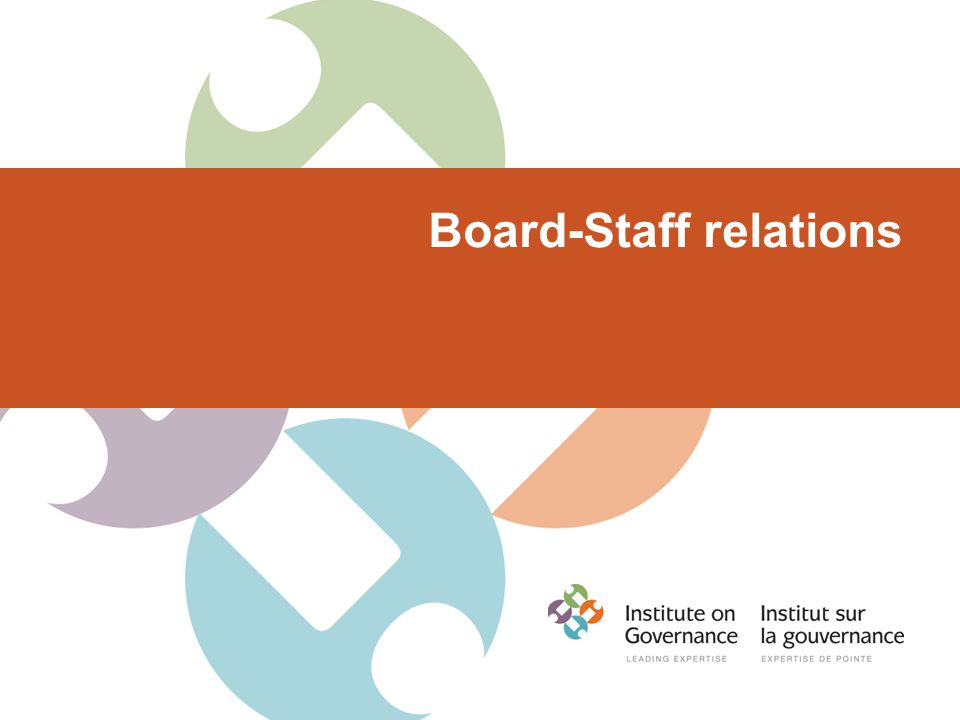 Board-Staff relations