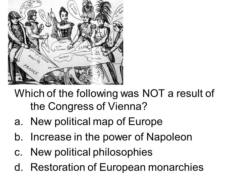 Which of the following was NOT a result of the Congress of Vienna.