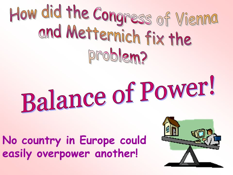 No country in Europe could easily overpower another!