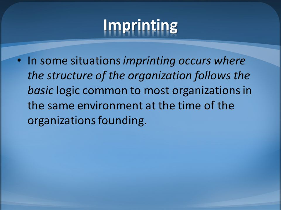 Incorporation refers to the tendency of organizations to have things happen that may not be intended.