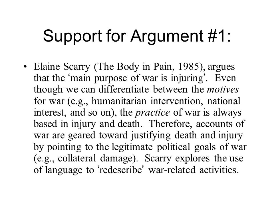 Possible Critique of Argument #3: The author seems to be suggesting that the purpose of the war crimes tribunal is to legitimate war – an argument that most supporters of war crimes prosecutions would find outrageous.