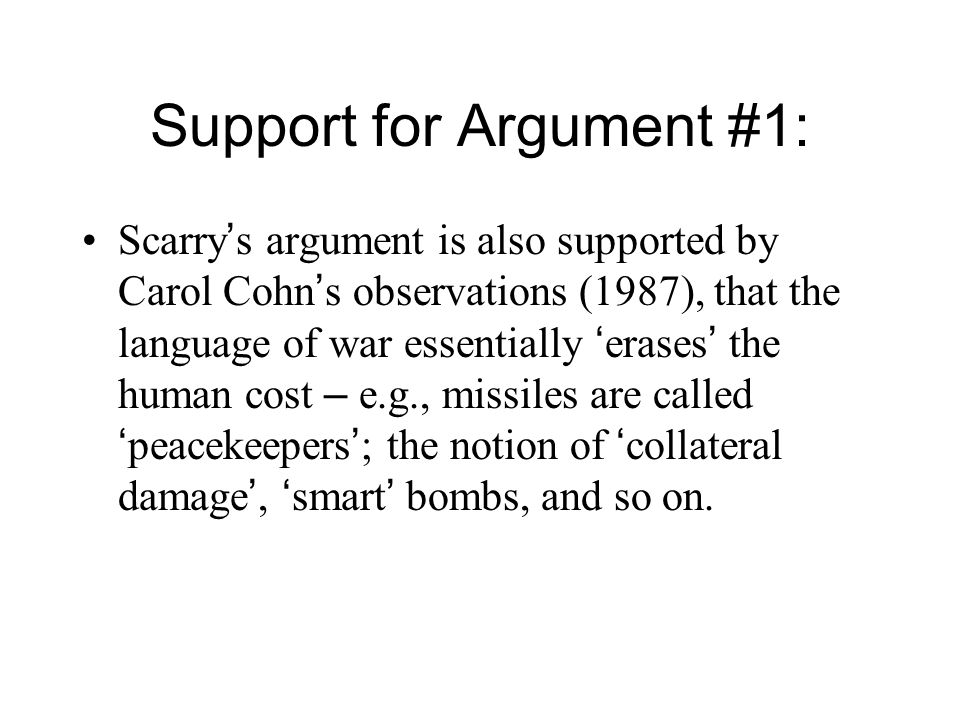 Response to Critique #3: The essay is not arguing that the tribunal intends to legitimate war.