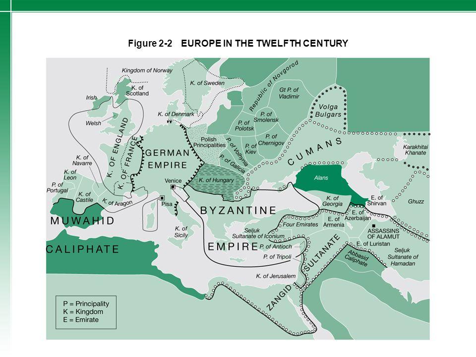 Figure 2-2 EUROPE IN THE TWELFTH CENTURY