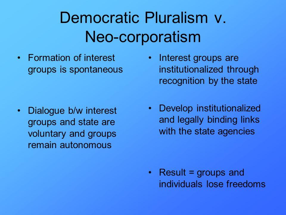 Democratic Pluralism v.