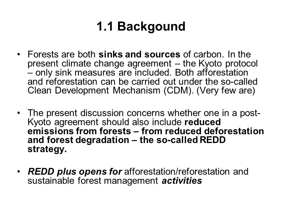 5.Last words - The interests of the South There are many controversial issues around REDD.
