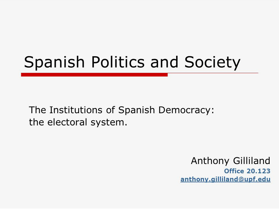 Introduction  Representative democracy and the importance of electoral system.
