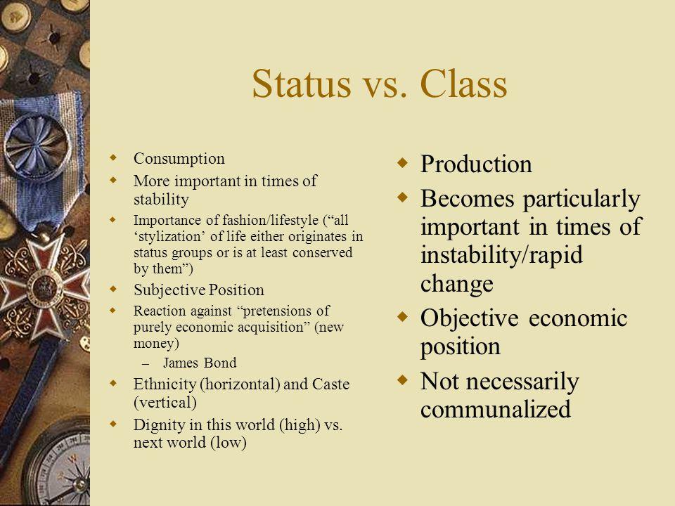 Status vs.