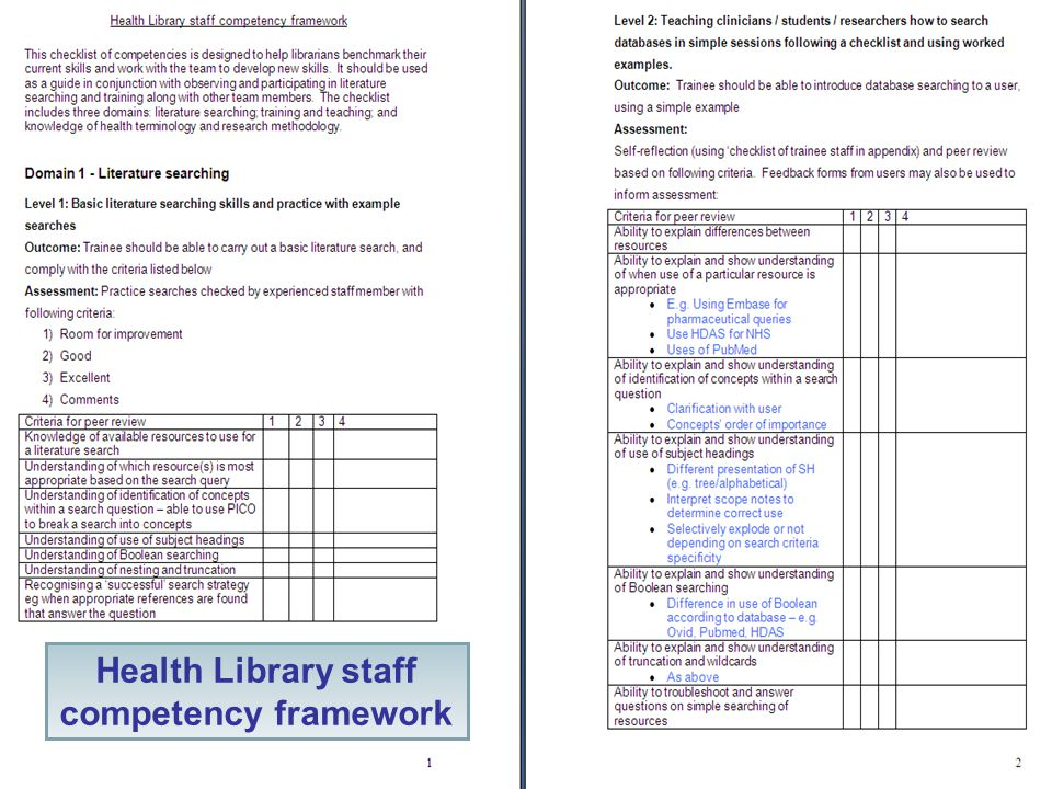 UCL Library Services Health Library staff competency framework
