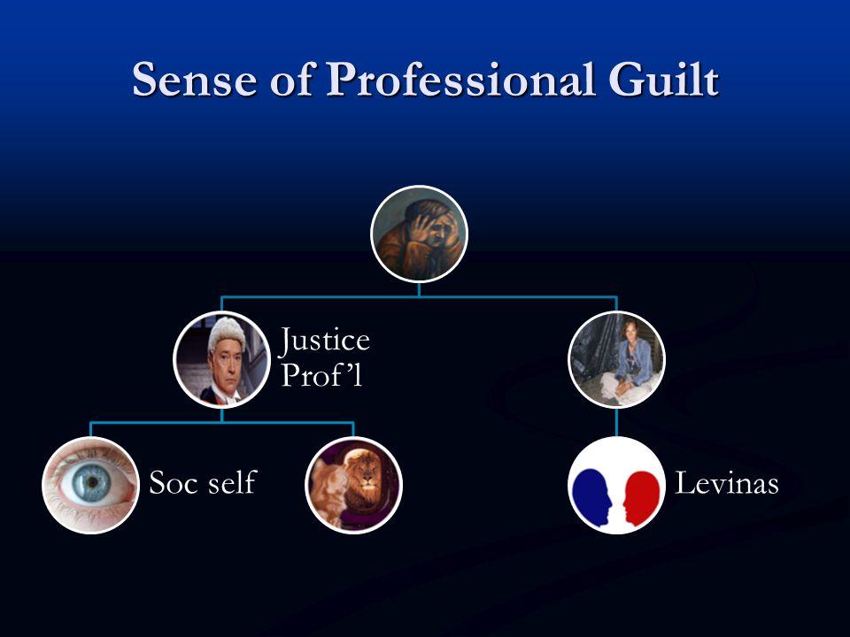 Sense of Professional Guilt Justice Prof'l Soc selfLevinas