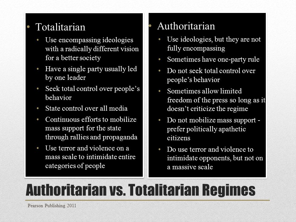 Authoritarian vs.
