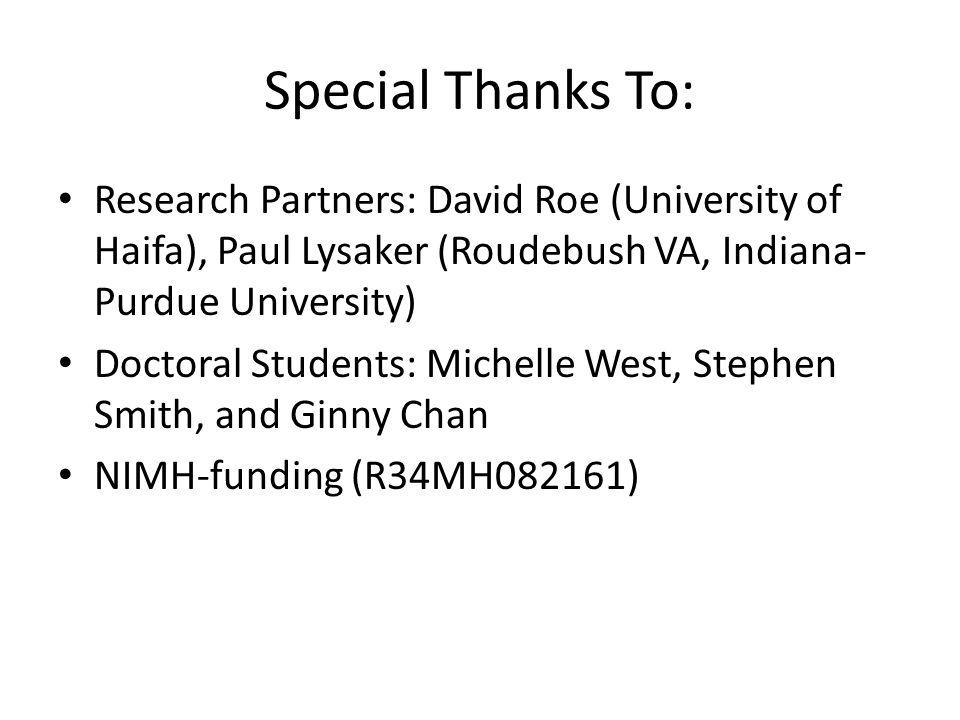 RCT of Impact of Peer-Led Services Segal et al.