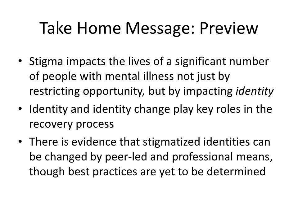 Are There Professional Interventions Available to Facilitate the Change of Self- Stigma.