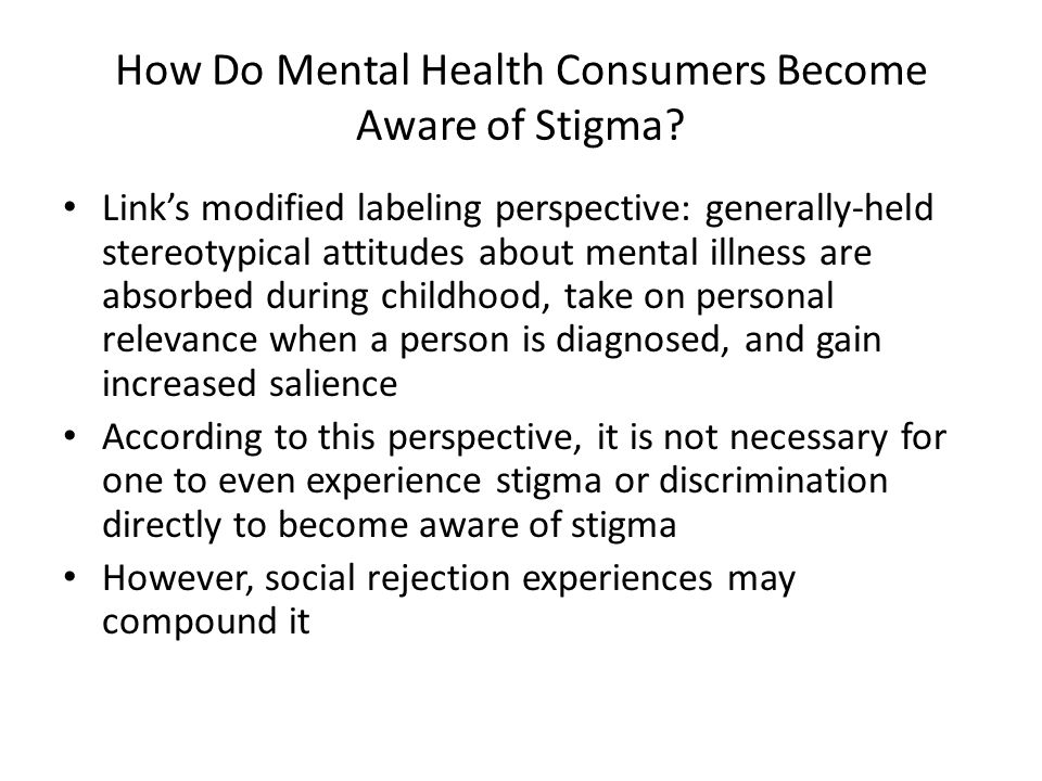 Hope and Self- Esteem Suicide Risk Coping and Engagement in Treatment Model for Impact of Internalized Stigma on Recovery-Related Outcomes ( Yanos, Roe & Lysaker, 2010) Internalized- Stigma Awareness Social Interaction Vocational Outcomes Symptom Severity