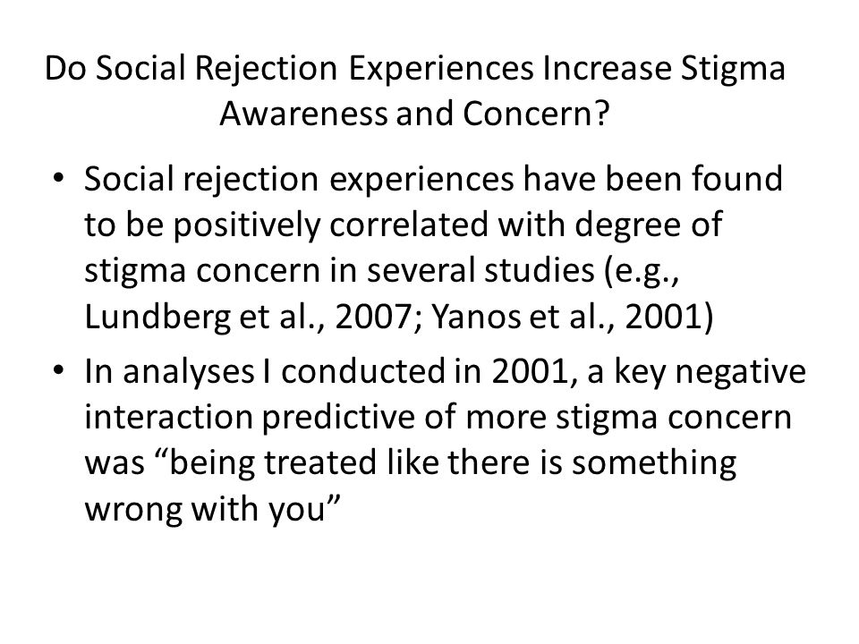 What is the Impact of Awareness of Stigma on Mental Health Consumers.