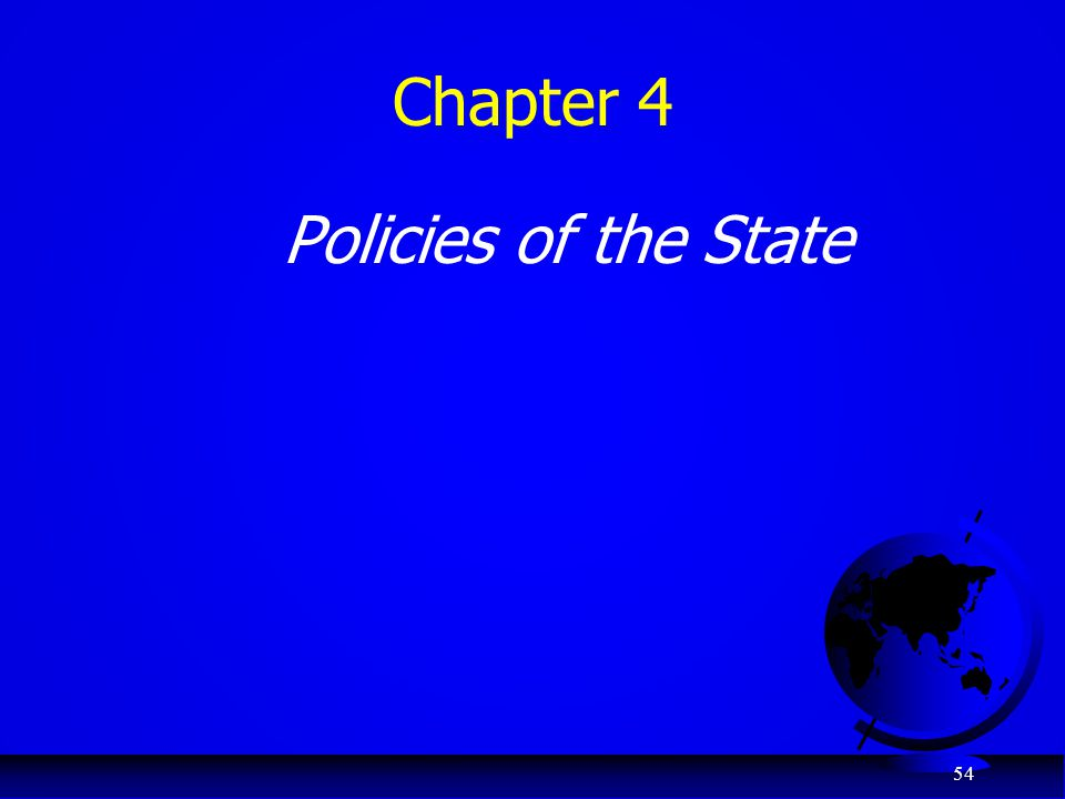 54 Chapter 4 Policies of the State