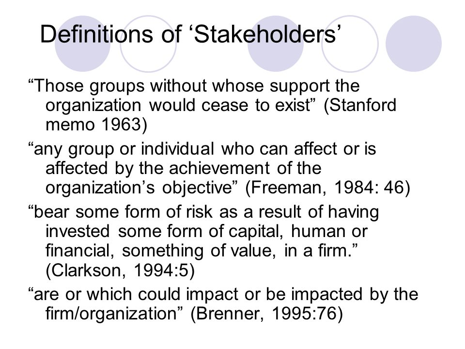 Strands within stakeholder theory Donaldson and Preston (1995) identify 3 strands: 1.