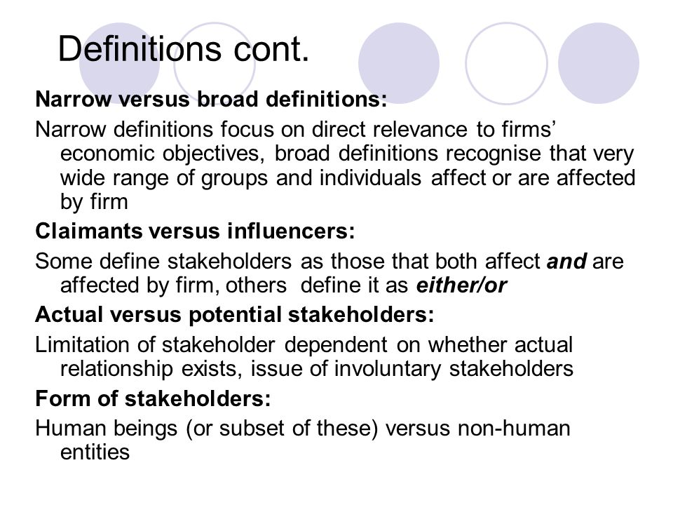 Strands within stakeholder theory cont.