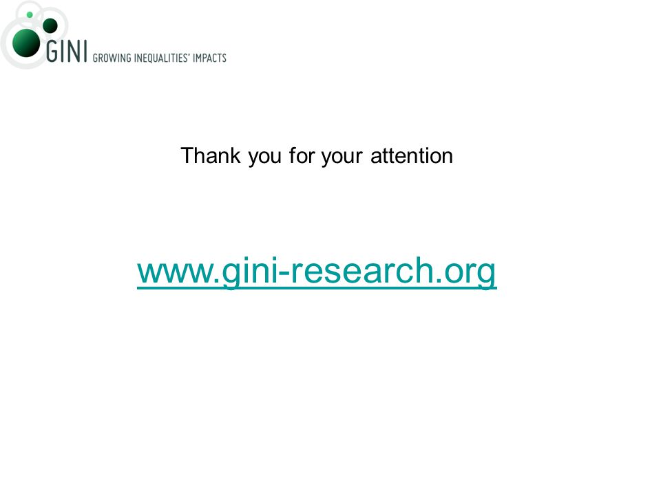 Thank you for your attention www.gini-research.org