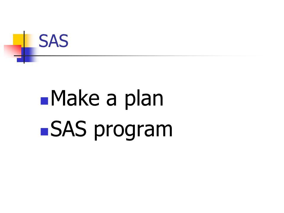 SAS Make a plan SAS program