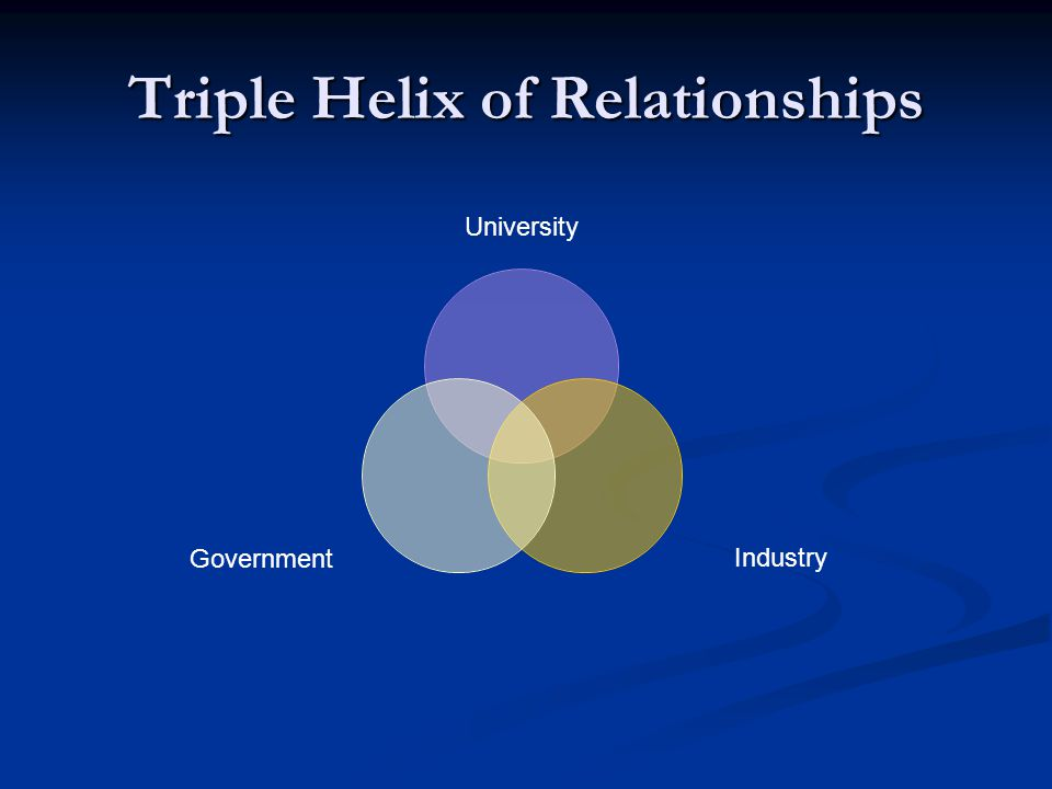 Triple Helix of Relationships University IndustryGovernment