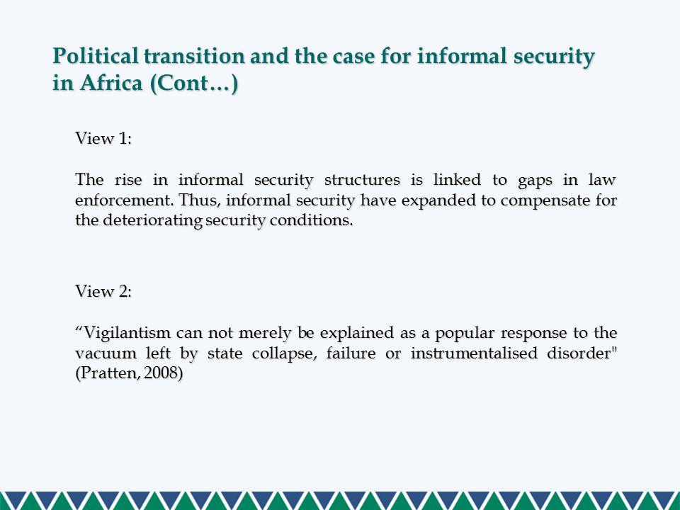 Contextualising informal security growth in Kenya