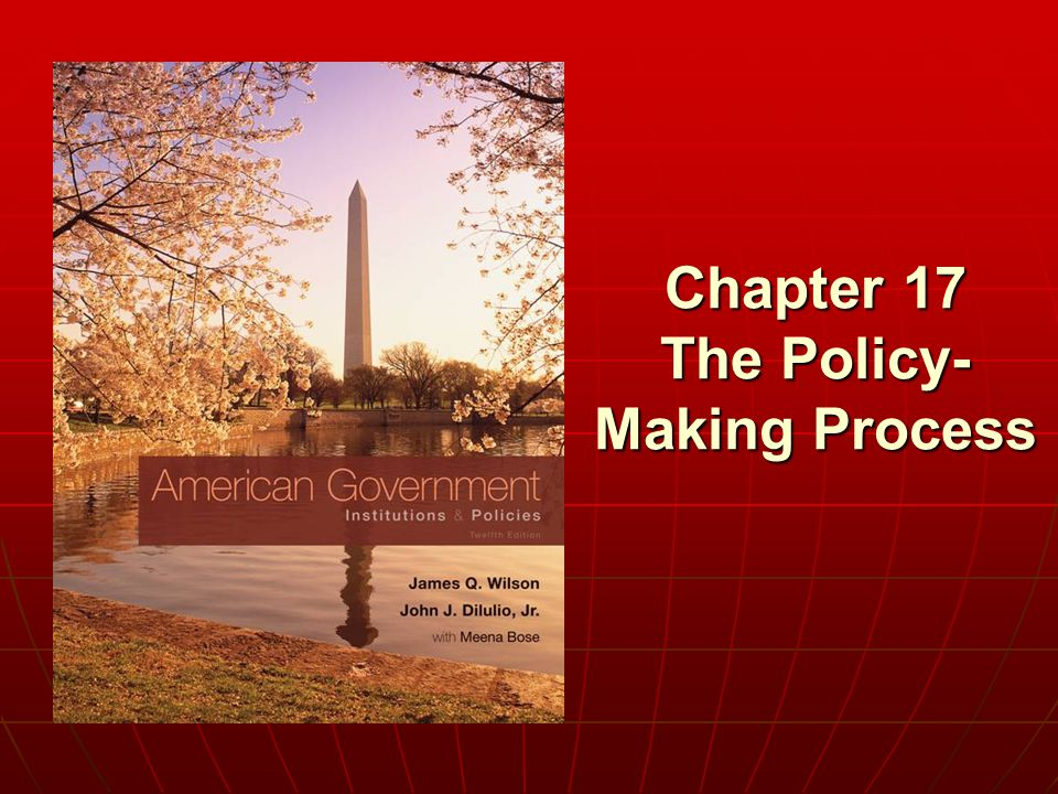 Chapter 17 The Policy- Making Process
