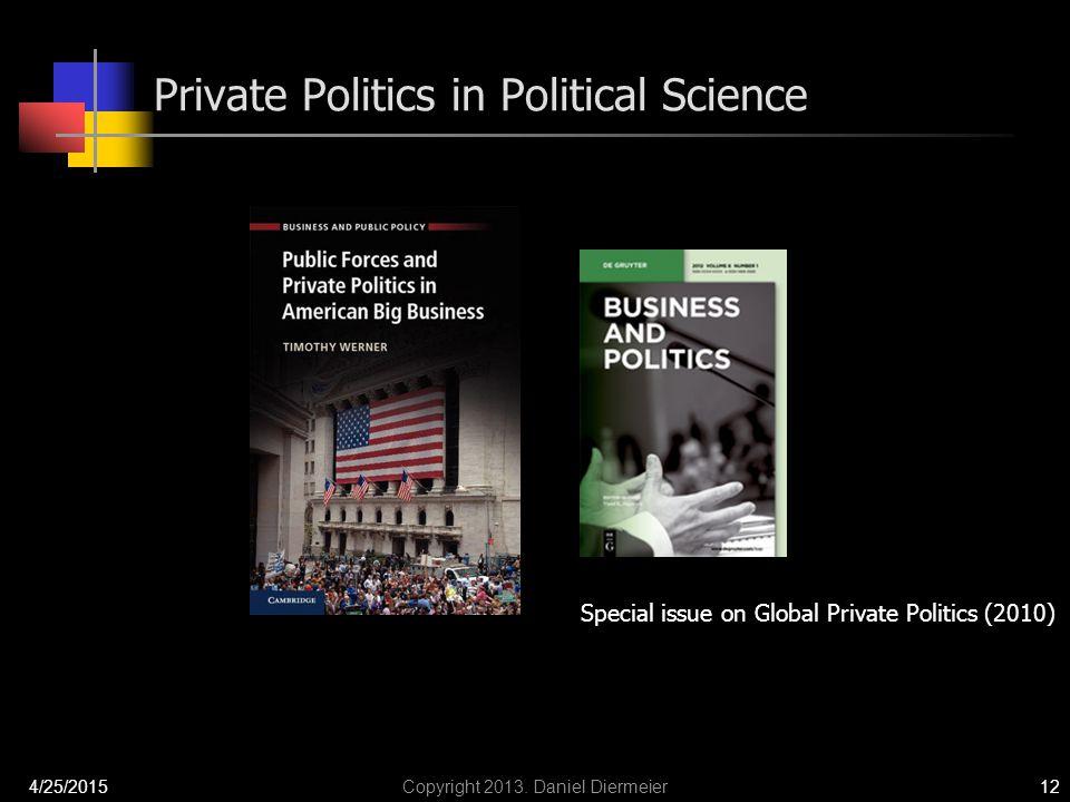Private Politics in Political Science 4/25/2015Copyright 2013.