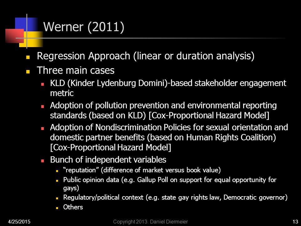 Werner (2011) 4/25/2015Copyright 2013.