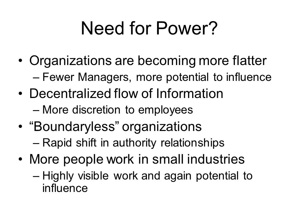 Need for Power.