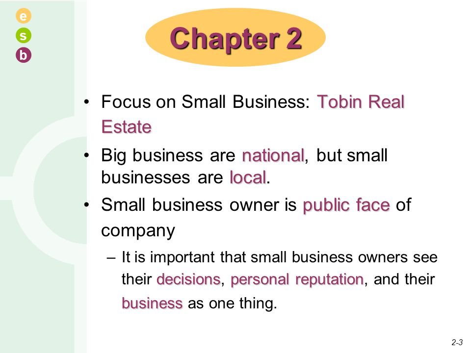 e s b Tobin Real EstateFocus on Small Business: Tobin Real Estate national localBig business are national, but small businesses are local.