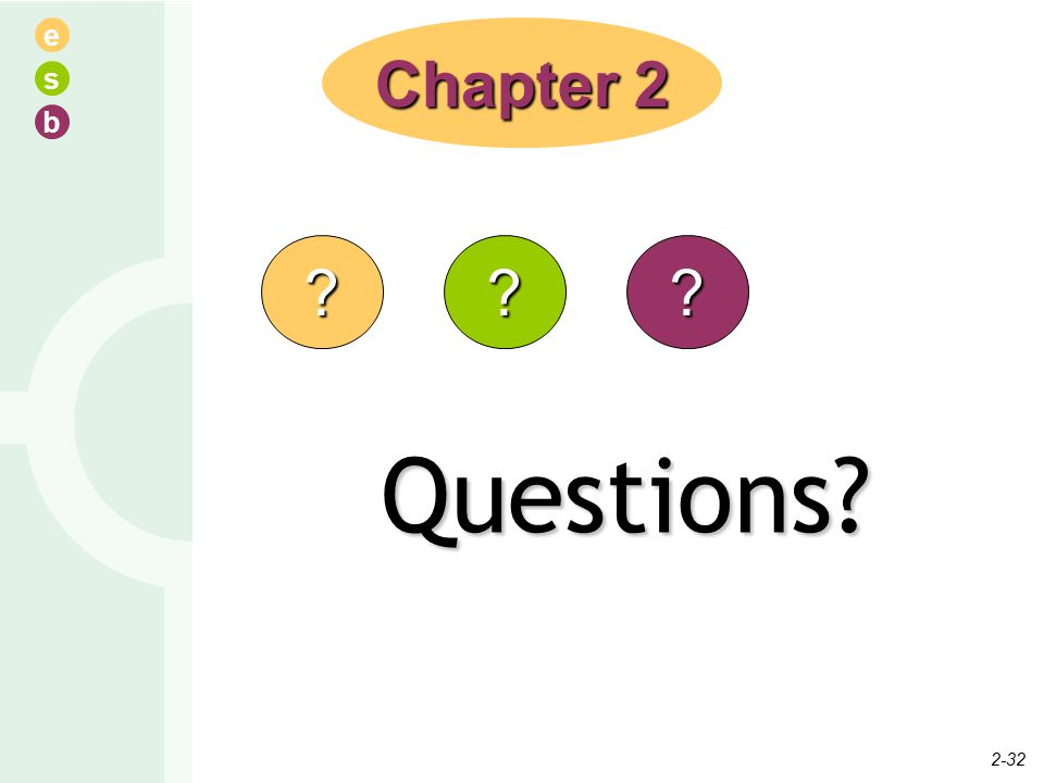 e s b Questions Chapter 2 2-32