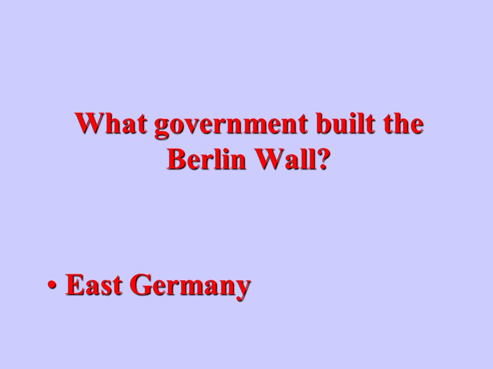 What was the democratic part of Berlin during the Cold War? West BerlinWest Berlin
